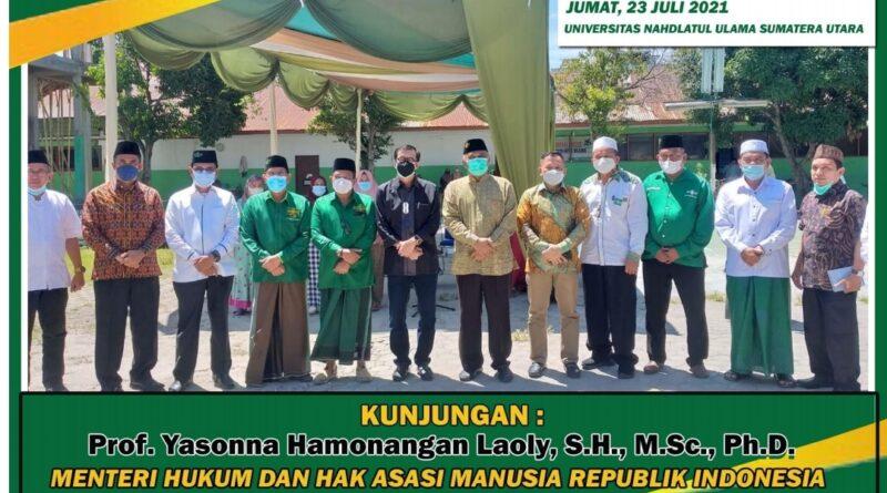 Kunjungan Menteri Hukum dan HAM Prof. Yasonna Laoly Ke-PWNU SUMUT